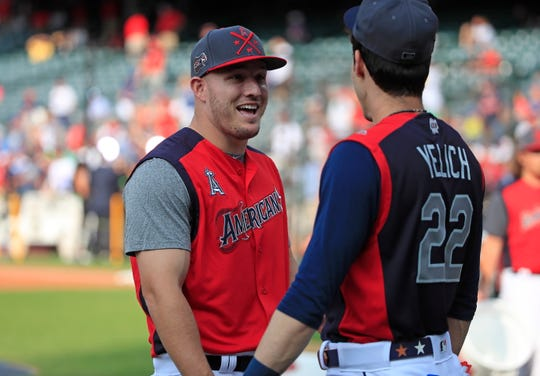 Mike Trout and Christian Yelich are our MVP voting leaders at the All-Star break.