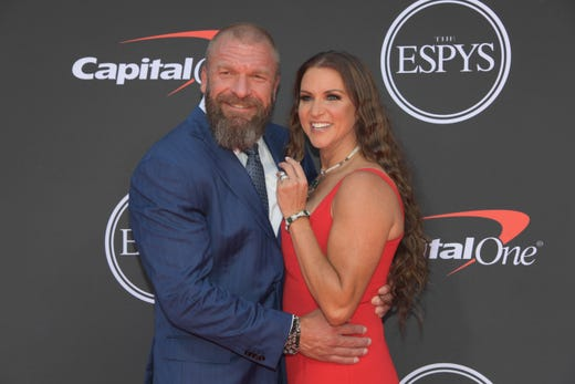 Triple H and Stephanie McMahon, WWE.