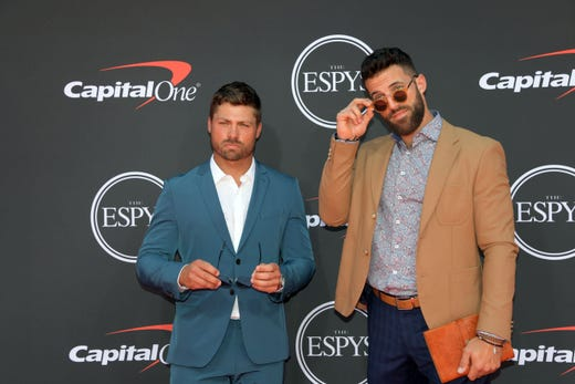Rob Pannell and Paul Rabil, lacrosse players.