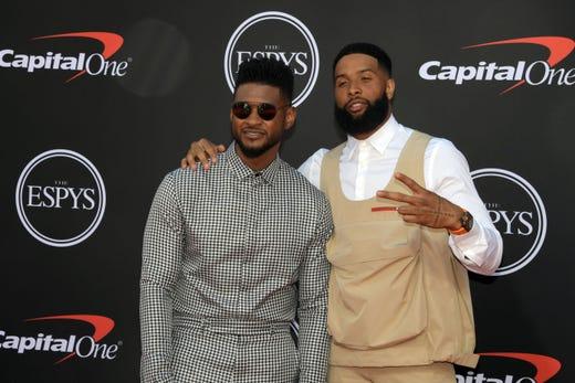 Usher and Odell Beckham Jr., Cleveland Browns player.