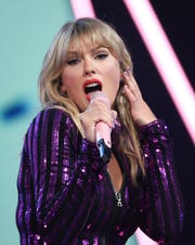 Taylor Swift performs at Amazon Music's Prime Day concert.