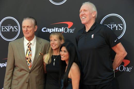 Rick Barry and Bill Walton, former NBA players.
