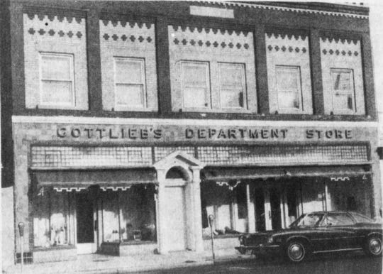 Gottlieb's Department Store is shown in a 1983 photo. The building, which has fallen into decay, could be demolished as part of a redevelopment project.