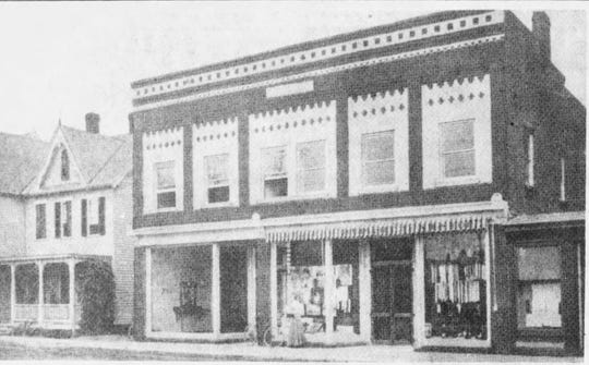 An undated photo from the early days of Gottlieb's Department Store on Arnold Avenue in Point Pleasant Beach. A U.S. Post Office branch is located on the left side of the building.