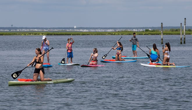 """Clear Waters Outfitting Co. offers """"Intro to Stand-Up Paddle Boarding""""on Monday, Aug. 5."""