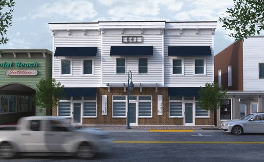 A rendering of the proposed mixed-use building to replace the Gottlieb building on Arnold Avenue in Point Pleasant Beach, filed with the township zoning office.