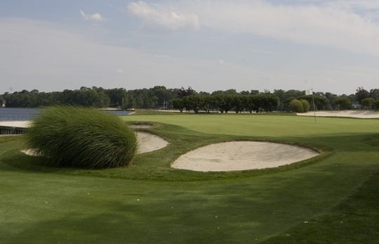 The Toms River Country Club's sixth hole green, surrounded by water, as seen in this 2010 file photo.