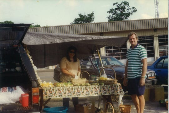 Linda and Mike Kazulen attend one of their first Valley Garden Markets in the mid-1990s. The couple, who operate Linda and Mike's Produce, are still members of the Black Mountain Tailgate Market, as it's known today.