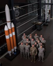 Maj. Gen. John Shaw, Air Force Space Command deputy commander, front center, stands with Reserve Officer Training Corps cadets during the inaugural AFROTC space immersion program June 4 at Headquarters AFSPC. The program teaches cadets about AFSPC's space warfighting capabilities and provides opportunities for leadership development and mentorship.