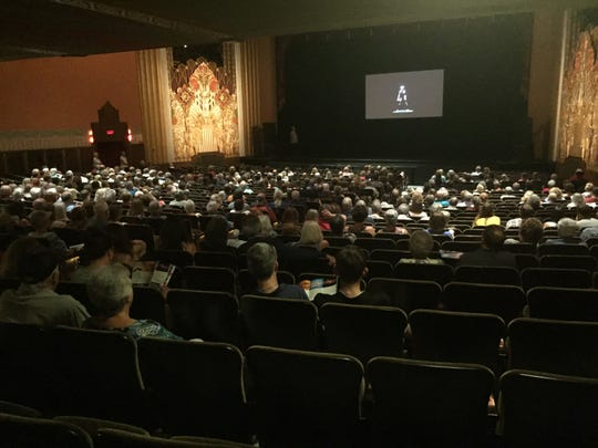 A crowd watches highlights of the 2019-20 season at the Flynn Center on July 12, 2019.