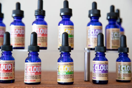 American Shaman CBD products located in their store on Corpus Christi south side.