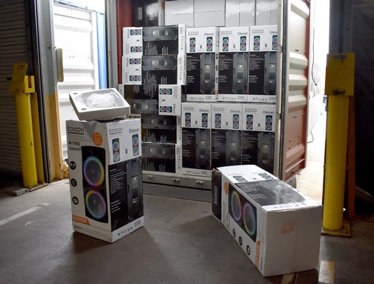 Federal agents recently seized more than 1,600 counterfeit speakers that arrived in Philadelphia from China.