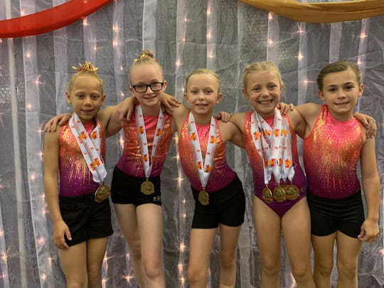 Jaala Brandon (Level 2) - Vault 5th Place, Floor 5th Place; Izabella Canter (Level 2) - Vault 7th Place; Leighton Keiser (Level 2) - Floor 4th Place; Gracyn Arledge (Level 2) - Uneven Bars 5th Place, Balance Beam 3rd Place, Floor 3rd Place, All Around 4th Place; Braelynn Fultz (Level 3).