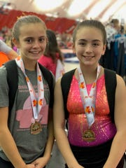 Kara McCann (Level 4) - Uneven Bars 11th Place; Alanis McCann (Level 4) - Uneven Bars 9th Place.