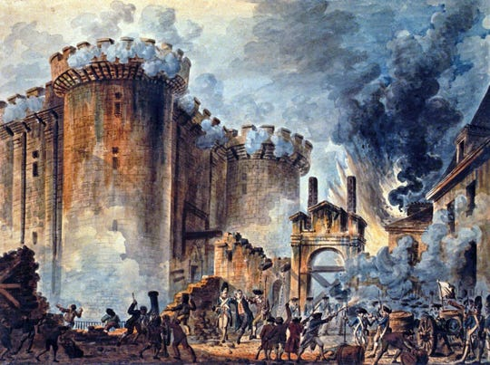 """The Storming of the Bastille"" by Jean-Pierre Houël from Bibliothèque nationale de France (National Library of France) File"