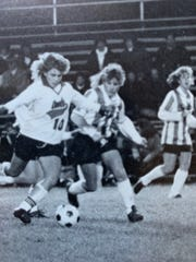 Suzanne (Stragand) Woods, No. 10,  was an All-American soccer player for Mt. Healthy in 1988. She went on to play for Division I George Washington University.