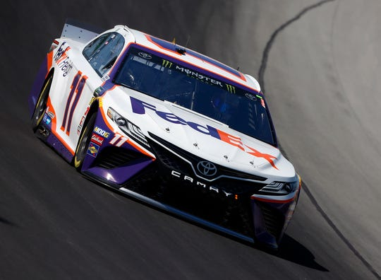 July 12 , 2019: #11: Denny Hamlin, Joe Gibbs Racing, Toyota Camry FedEx Freight during the practice at the Kentucky Speedway in Sparta, Kentucky.