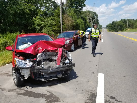 Two people were hurt in a three-vehicle wreck at Madison Street and Richview Road on July 12, 2019.