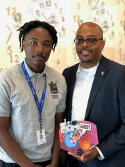 Joevell Arnold, 16 of Detroit, with his mentor, Bartel Welch, CEO of Code313.