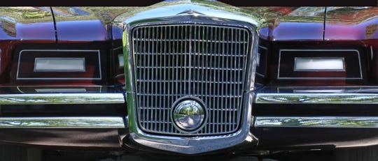 The grille of the Virgil-Exner designed 1966 Duesenberg coupe.