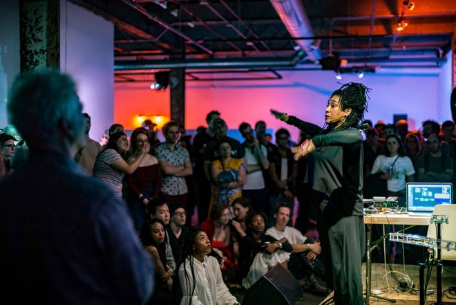 """""""Rejecting Reality"""" at Red Bull Arts Detroit during last year's Detroit Art Week"""