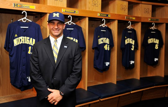 Erik Bakich is introduced as Michigan's new baseball coach in June 2012.