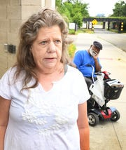 Sharon Sykes, 60, a resident at Piquette Square speaks on her experiences at Piquette Square, a subsidized apartment building where formerly homeless veterans stay, in Detroit, Michigan on July 12, 2019.