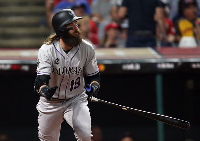 The Colorado Rockies host Cincinnati at 6:10 p.m. Saturday.