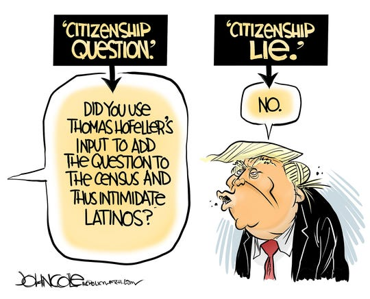 Trump answers census question.
