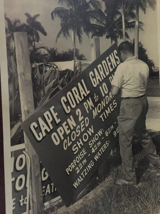 The Cape Coral Gardens were used by Gulf American to promote Cape Coral.