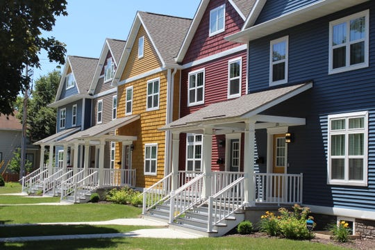 Townhouses built by NeighborWorks Green Bay in the 200 block of South Jackson Street are among recent construction projects that aim to increase the availability of affordable housing in the Green Bay area.