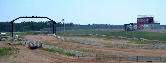 A view of the Dirt City Motorplex from the north side of the facility, located along Highway 141 on the north side of Oconto County A.