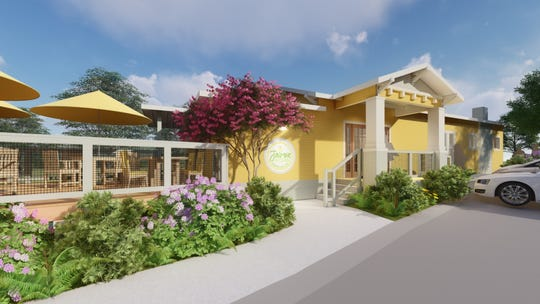 A rendering of Jasmine Kitchen, the restaurant and social enterprise piece of the non-profit, Jasmine Road.