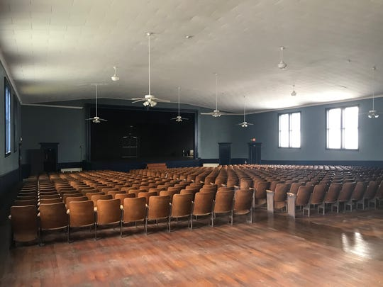 The auditorium at the Simpsonville Arts Center is pictured on July 11, 2019, ahead of a planned renovation of the building.