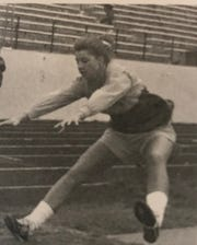 Amy (Hanson) Bartels was a standout triple-jumper for the C.M. Russell High Rustlers in the late 1990s. She is now coordinator of MOA officials and Social Media for the Montana High School Association.