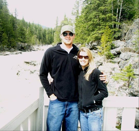 Mark and Amy Bartels, who met during their summer jobs as whitewater rafting guides in Glacier National Park, have been married for seven years. Amy, a C.M. Russell High graduate, is starting a new job with the Montana High School Association.