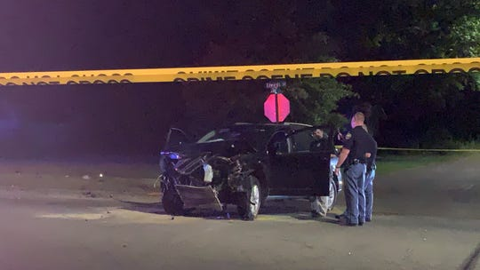 Two people were involved in an accident Thursday, July 11, 2019, at the intersection of Edwards Street and Duke Avenue. A woman and a Hattiesburg police officer were injured in the wreck.