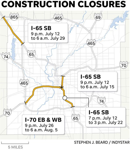 Indianapolis traffic: I-65, I-70 closure detours on marion county indianapolis zip code map, indianapolis street map online, indianapolis area map, indianapolis street maps printable, indianapolis water main map, hotels indianapolis indiana map, indianapolis map with exit numbers,
