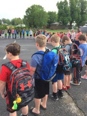 Yorkville Elementary students