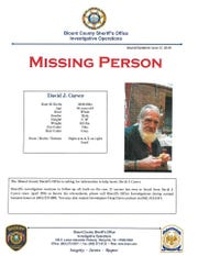 David J. Carver, whose body was found in the Great Smoky Mountains National Park on Monday, July 8, 2019, was reported missing in June.