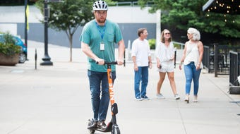 After seeing a scooter cruise through Market Square, we got permission from the city to try it ourselves. Was it just a fluke or is geofencing not working?