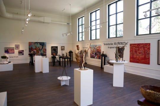 An art exhibit room inside the Tippecanoe Arts Federation, Friday, July 12, 2019 in Lafayette.
