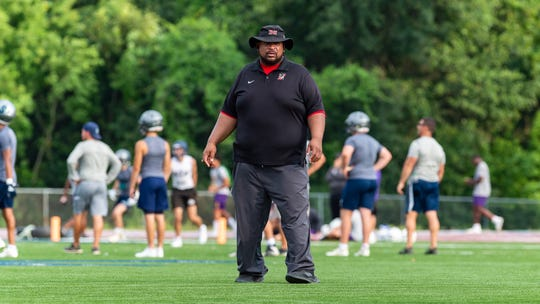 Head coach John Simmons- Northside Football at the Quick Slants All Acadiana 7 on 7 High School Football Tournament. Thursday, July 11, 2019.