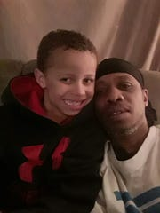 Aubrey and his father, Anthony Hall