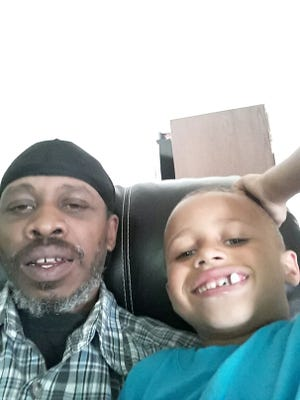 Aubrey and his father, Anthony Hall.