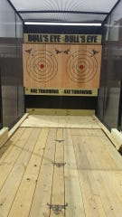 A look inside the mobile unit Lansing's Bull's Eye Axe Throwing rents out for parties and other special events throughout Michigan.