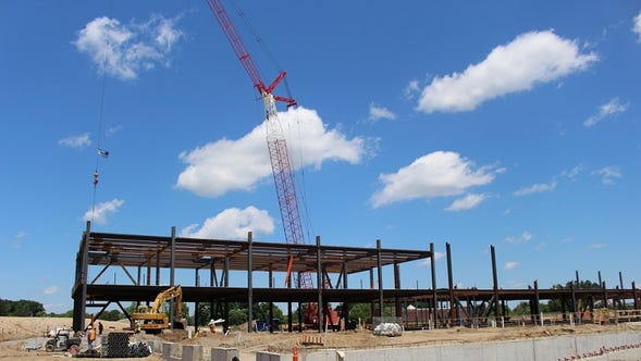 The future of health care is taking shape at McLaren's new hospital site.