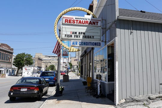 Warren's Restaurant Friday, July 12, 2019, in Manitowoc, Wis. The restaurant recently closed down after failing to comply with a new state law. Joshua Clark/USA TODAY NETWORK-Wisconsin