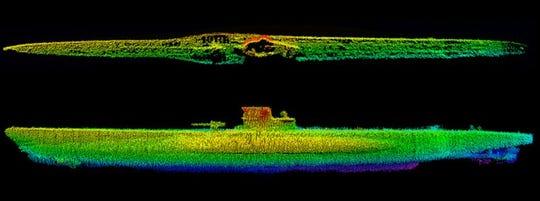 U-576 sonar photo.