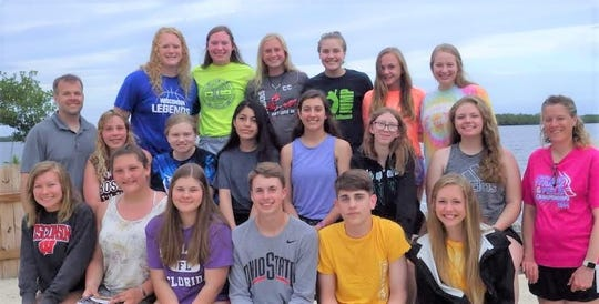 Two Rivers High School's 2019 marine ecology students, from left: Front row: Aubry Hassemer, Madison Loomans, Montana Hoffman, Braden Schroeder, Will Novachek and Maggie Klinkner; second row: instructor Jeff Schmid, Brittany Stangel, Cassie Hartwig, Allesondra LaPorta, Ariana Zimney, Savana Sand, Shaylyn Behnke and Carey Schmid; and back row: Kendra Hammel, Kiley Graff, Carissa Hammel, Mackenzie Graff, Makenzie Greenwood and Abby Fries.